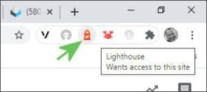 Load Google Lighthouse