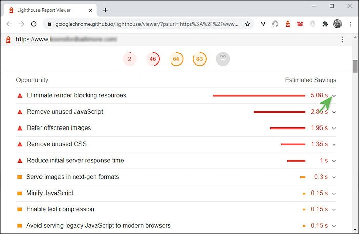 Lighthouse Performance - Eliminate render blocking resources