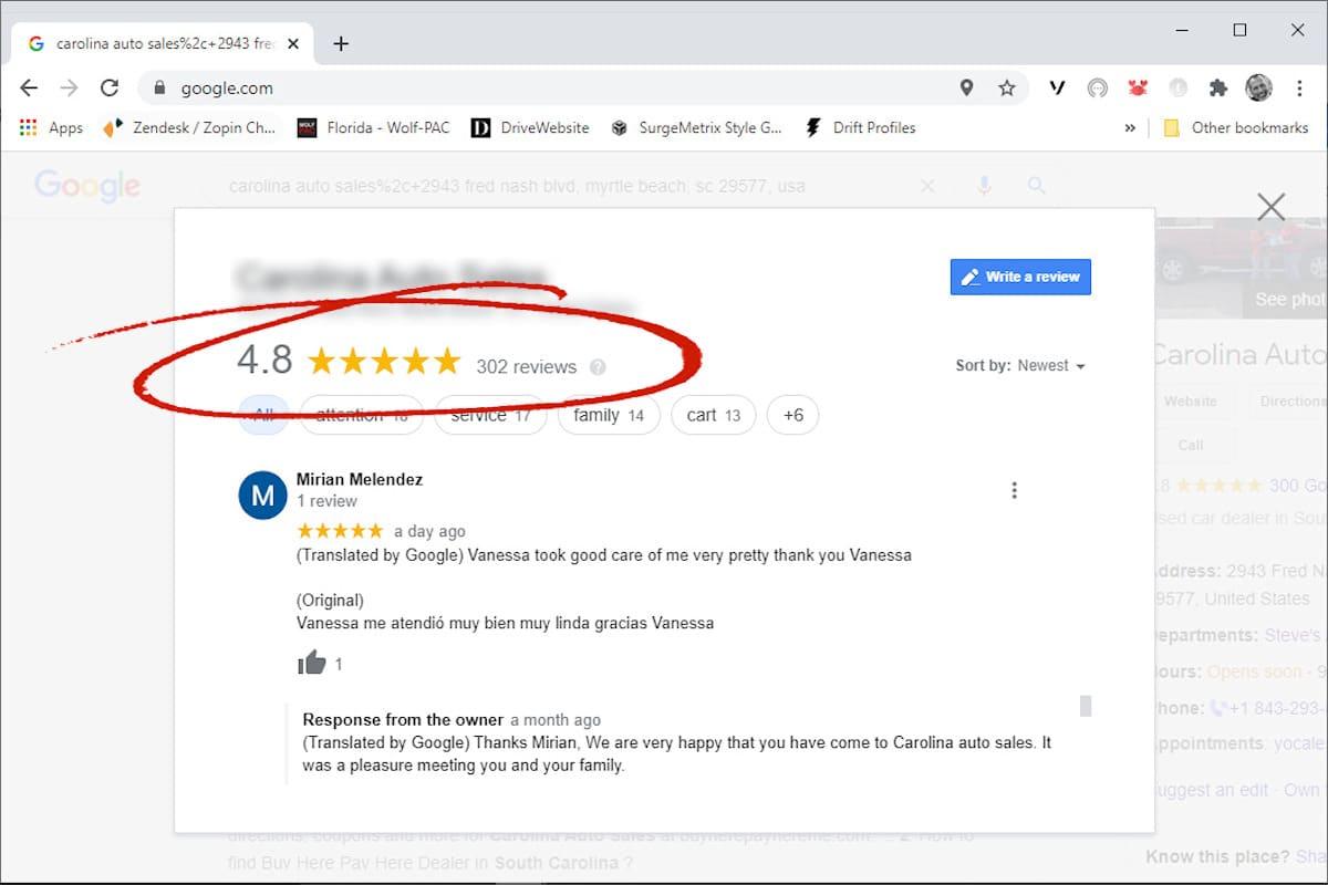 CAS Spanish language reviews