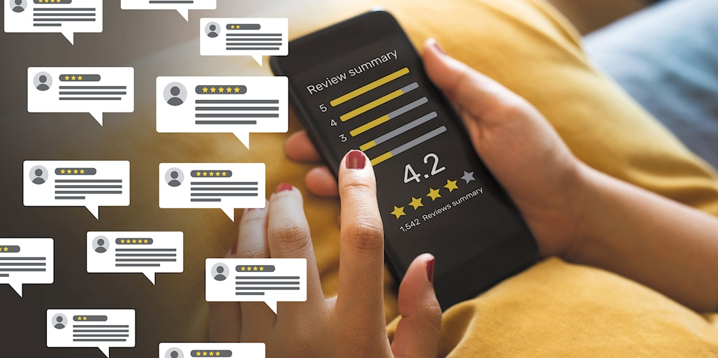 Google My Business online reviews